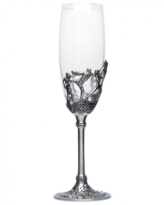 Pewter Wine Glass Muay Thai High Heel