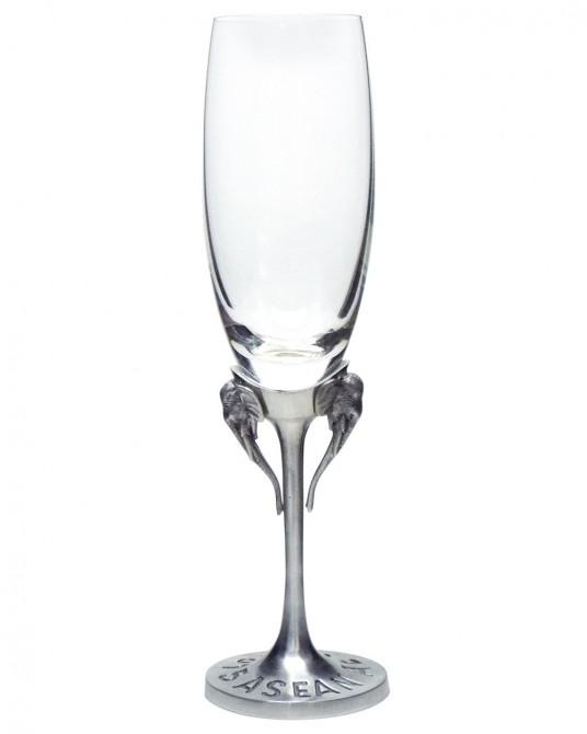Pewter Wine Glass Asian Elephant High Heel