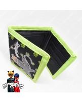 กระเป๋าสตางค์ 3 พับ ลายการ์ตูนเลดี้บัค (สีเขียว)