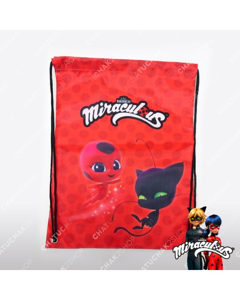 Waterproof Gymbag (Red) - Miraculous Ladybug