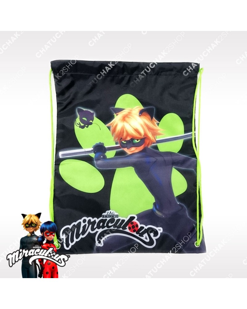 Waterproof Gymbag (Black) - Miraculous Ladybug