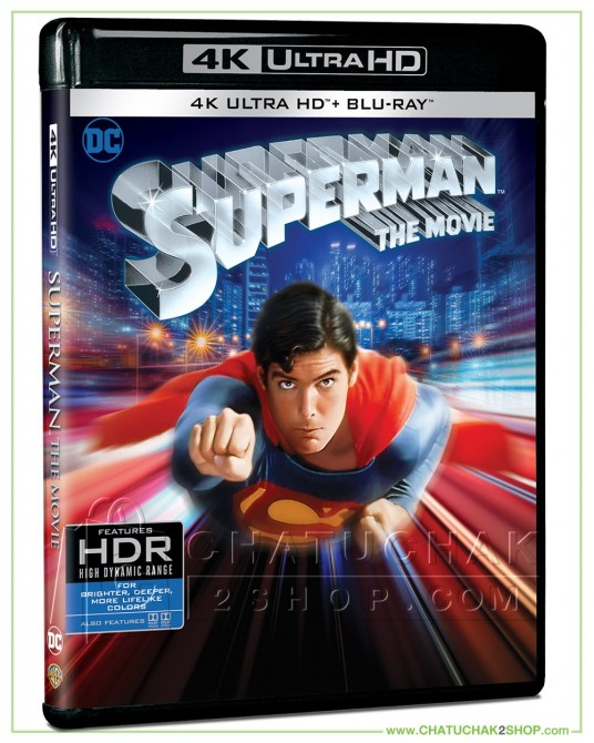Superman The Movie (1978) 4K Ultra HD Steelbook includes Blu-ray 2D