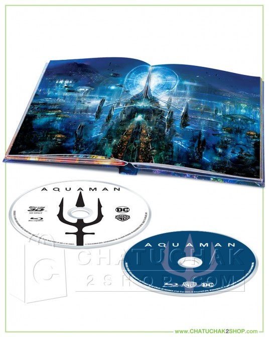 Aquaman Blu-ray Digibook Includes 2D and 3D
