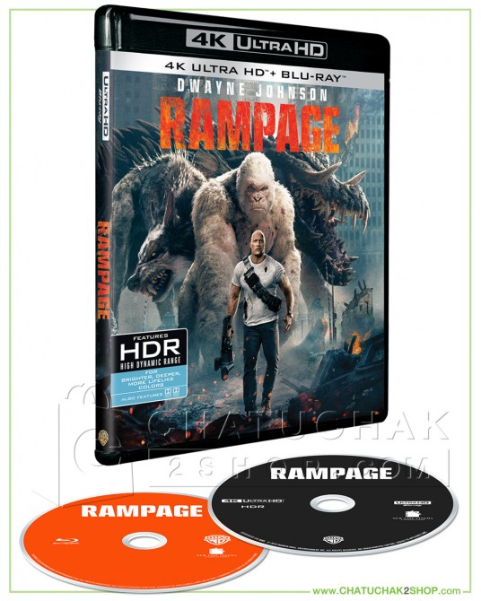Rampage Blu-ray 4K Ultra HD includes Blu-ray 2D