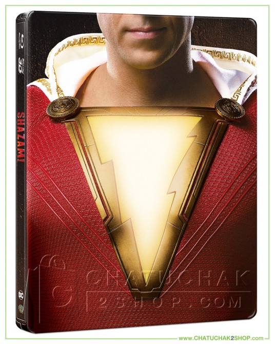 Shazam! Blu-ray Steelbook Includes 3D and 2D (Free Postcard)