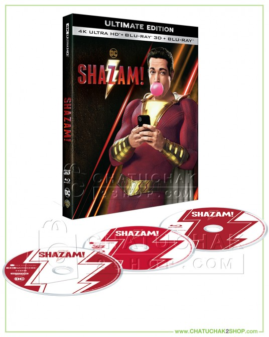 Shazam! 4K Ultra HD includes Blu-ray 3D & 2D (Free Postcard)