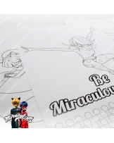 Drawing pad with 4 crayons - Miraculous Ladybug