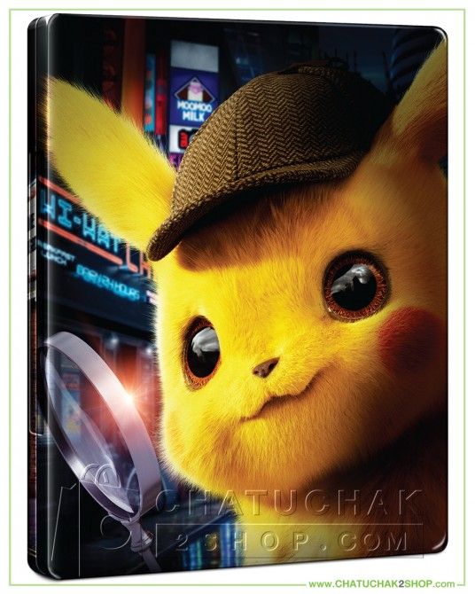 Pokémon Detective Pikachu Blu-ray Steelbook Includes 3D and 2D