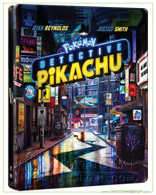 Pre-order : Pokémon Detective Pikachu Blu-ray Steelbook Includes 3D and 2D