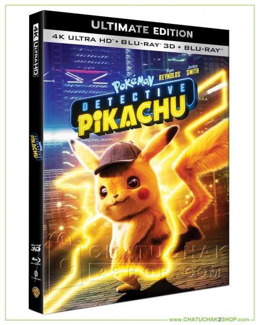 Pokémon Detective Pikachu 4K Ultra HD includes Blu-ray 3D & 2D (Free Postcard)