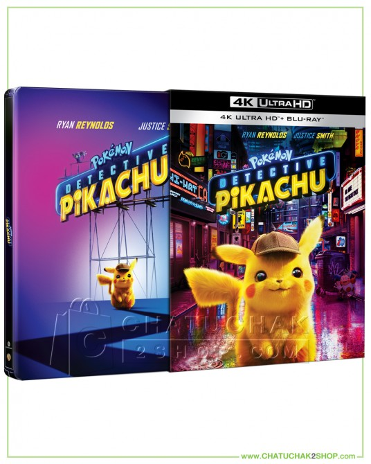 Pokémon Detective Pikachu 4K Ultra HD Steelbook includes Blu-ray 2D (Free Postcard)