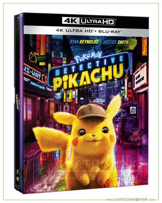 Pokémon Detective Pikachu 4K Ultra HD Steelbook includes Blu-ray 2D