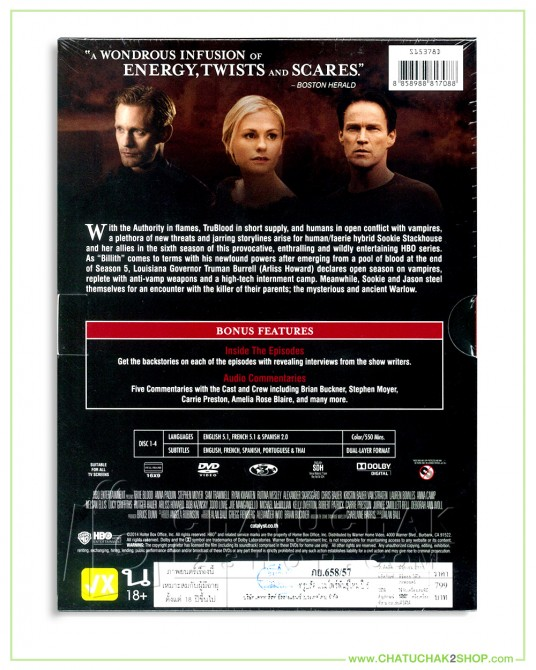 True Blood : The Complete 6th Season DVD Series (4 discs)
