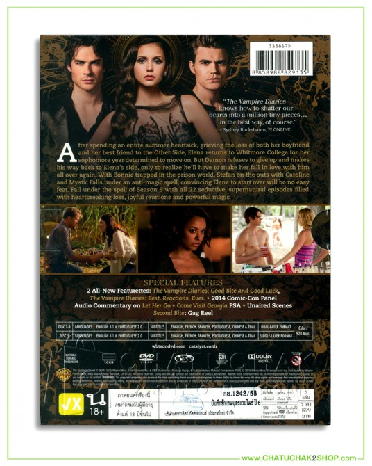 The Vampire Diaries : The Complete 6th Season DVD Series (5 discs)