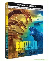Godzilla 2 : King of the Monsters - 4K Ultra HD includes Blu-ray 3D & 2D (Free Post Card)