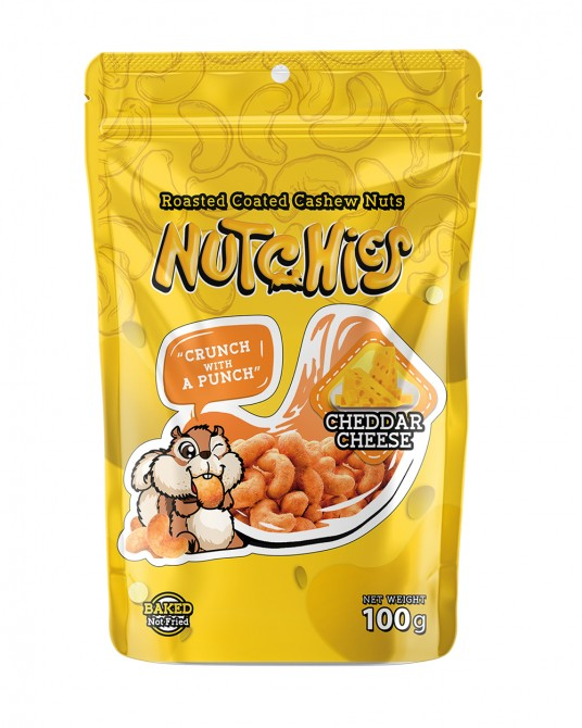 Nutchies Cheddar Cheese Flavour 100g.