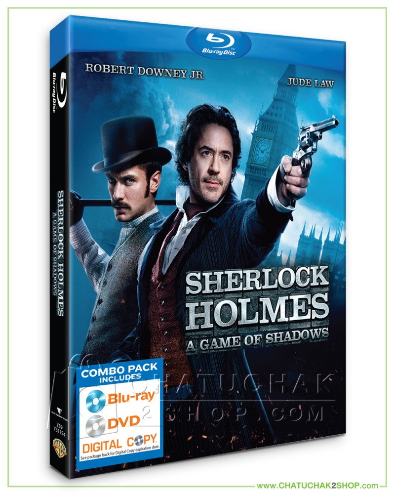 Sherlock Holmes : A Game of Shadows Blu-ray Combo Set (Bluray & DVD)