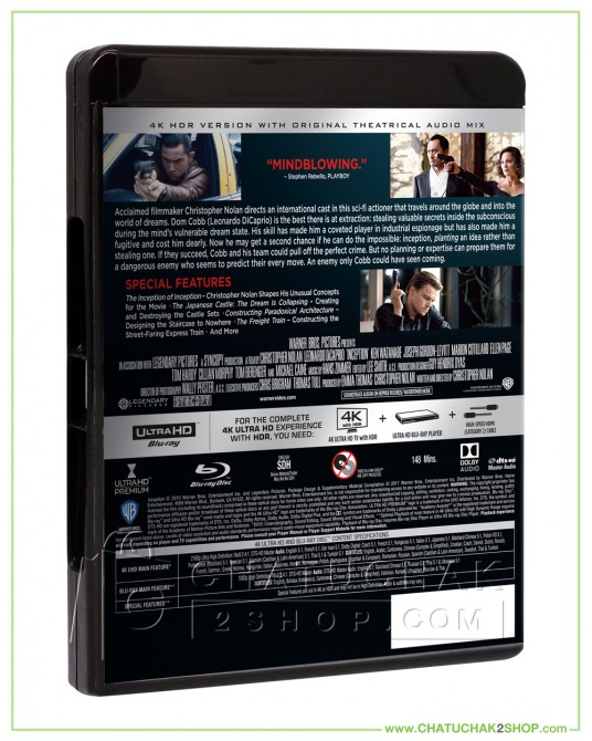Inception 4K Ultra HD + Blu-ray +Bluray Special Features