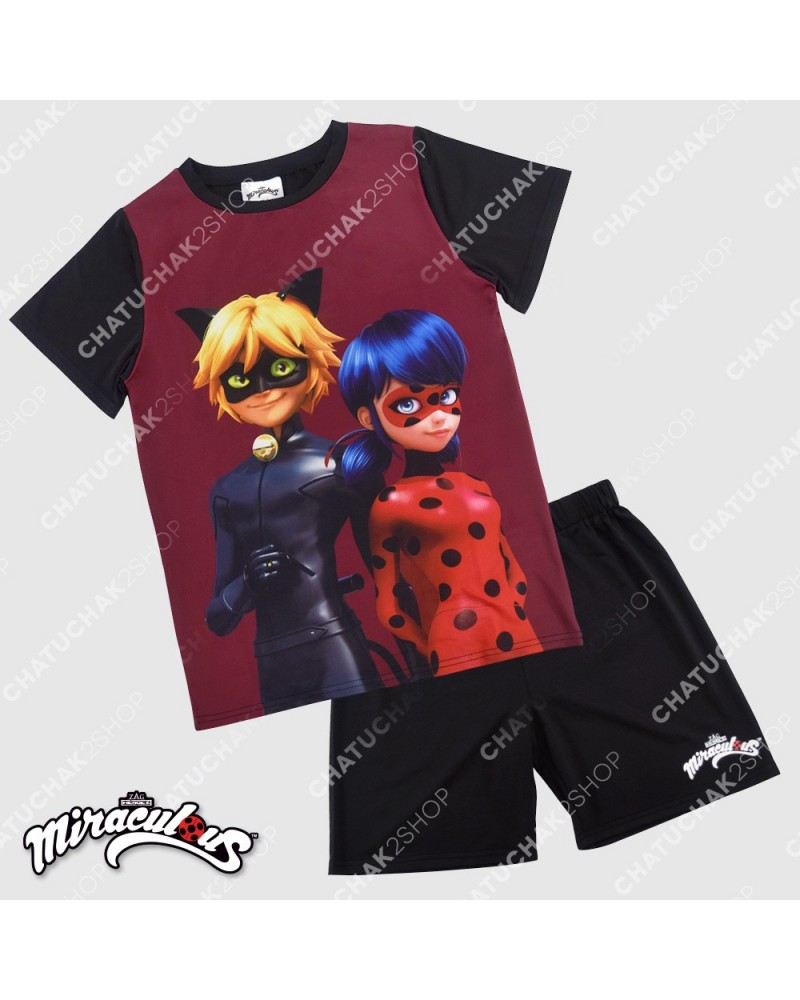 Top & Shorts Set (Black) - Miraculous Ladybug