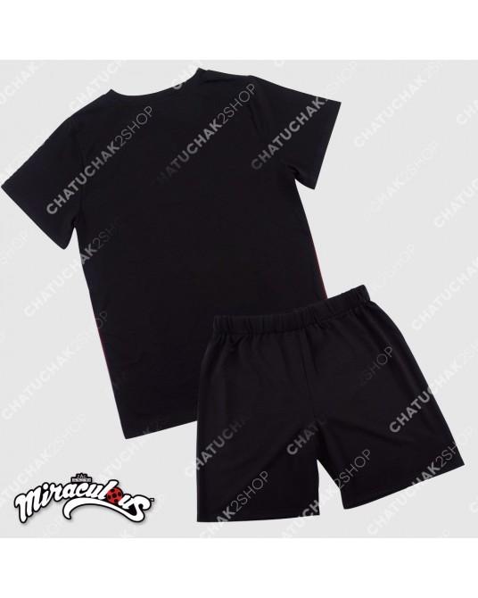Top & Shorts Set (Black) - Miraculous Ladybug