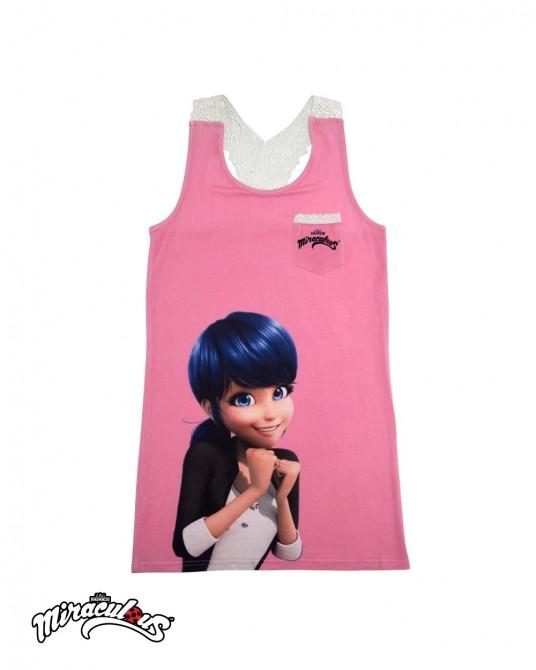 เสื้อกล้าม ลายการ์ตูน เลดี้บัค (สีชมพู)