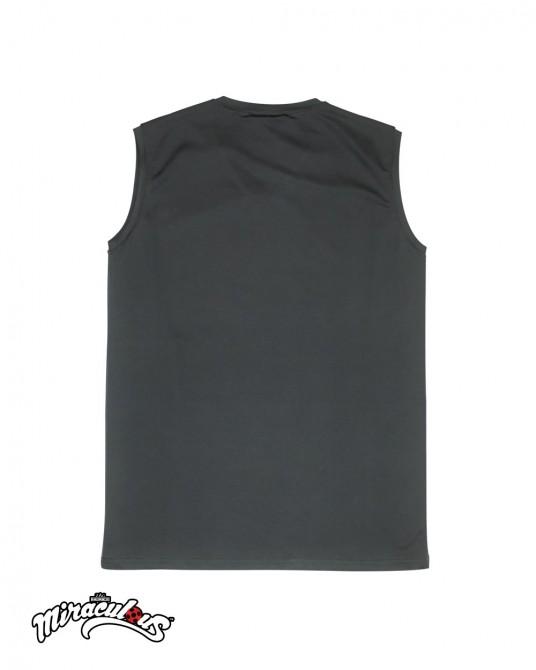 เสื้อกล้ามเด็กผู้ชาย ลายการ์ตูน เลดี้บัค (สีเทา)