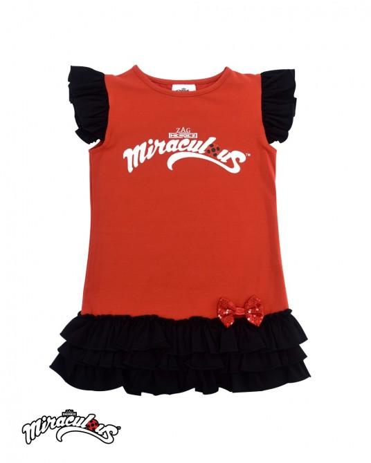เสื้อกล้าม เสื้อกล้ามเด็กผู้หญิง ลายการ์ตูน เลดี้บัค (สีแดง)
