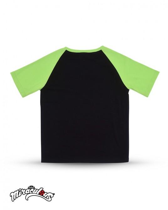 เสื้อยืดเด็ก ลายการ์ตูน เลดี้บัค (สีดำ-เขียว)