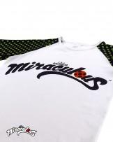 เสื้อยืด - กางเกง ลายการ์ตูน (สีขาว-ลายจุด) เลดี้บัค