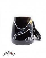 Ceramic Mug (Black) - Miraculous Ladybug