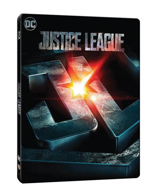 Justice League Blu-ray Steelbook Includes 2D & 3D