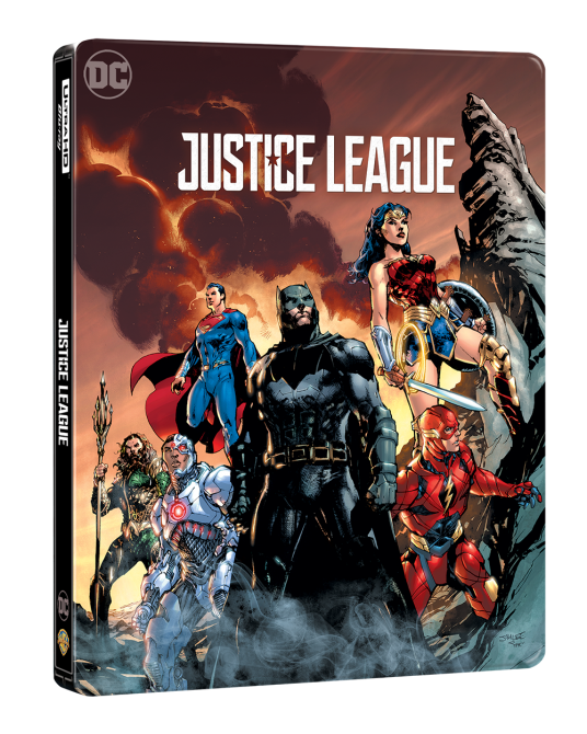 Justice League 4K Ultra HD Steelbook includes Blu-ray 2D