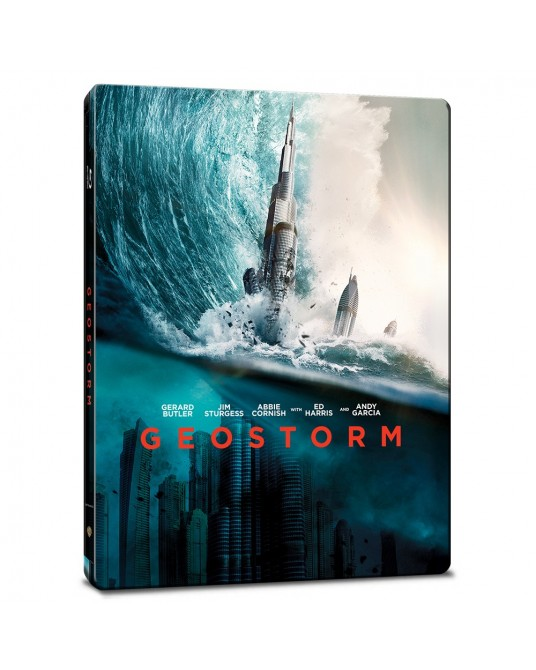 Geostorm Blu-ray Steelbook Includes 2D and 3D