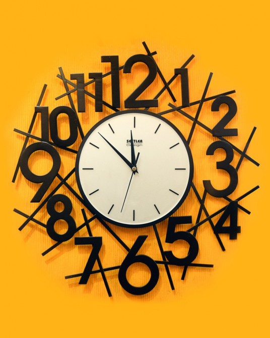 Number Wall clock