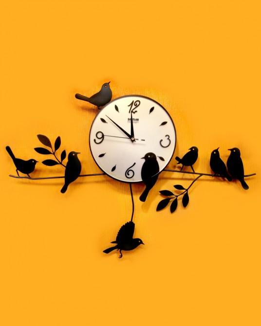 นาฬิกาติดผนัง ลายนกเกาะกิ่งไม้