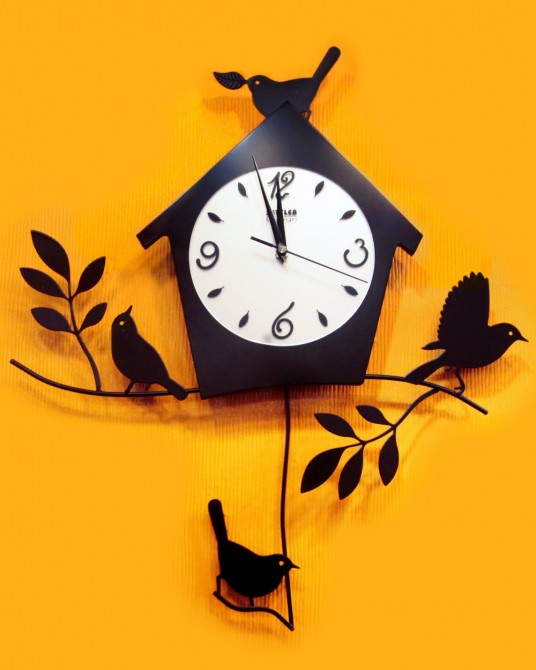Bird house Wall clock